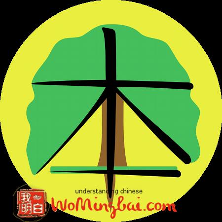 chinesisches zeichen wurzeln basis 本 illustriert